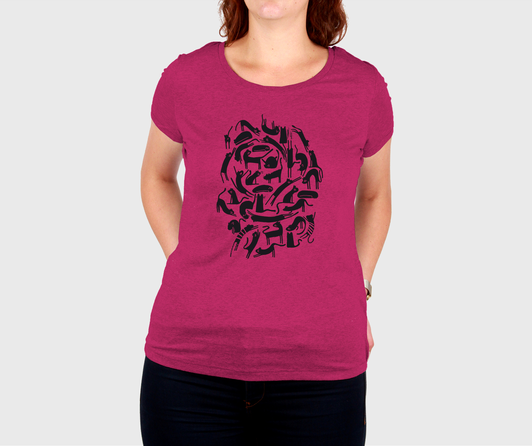 t shirt, t shirt chat, joli t shirt, moule a gaufres, creation, chats, orleans, made in france